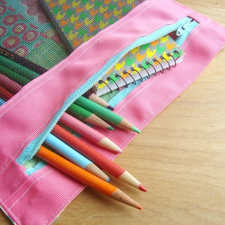 3 ring binder zipper pouch tutorial