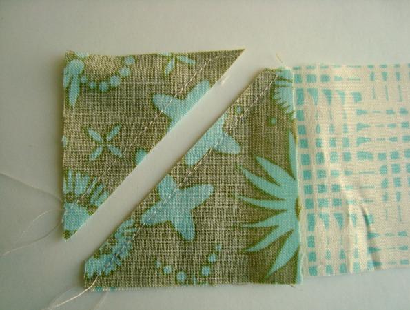 cornert riangle quilt sashing instructions