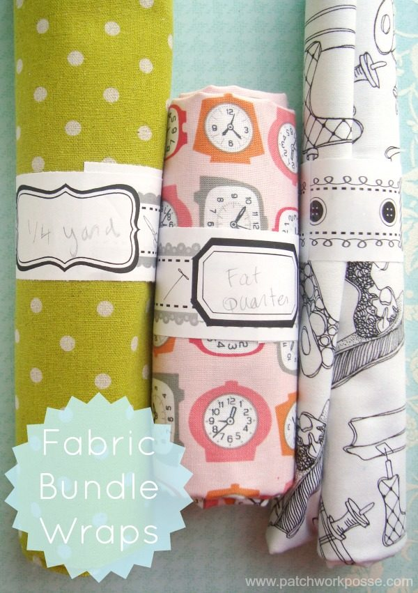 organize your fabric with fabric bundle warp printables 3 designs | patchworkposse #printable #fatquarter