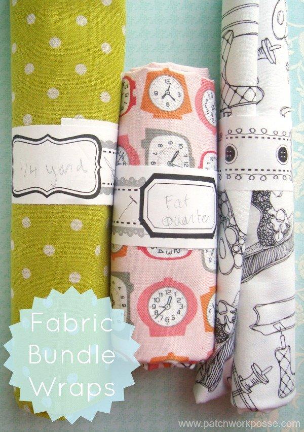 Fabric Bundle Wraps- Printable
