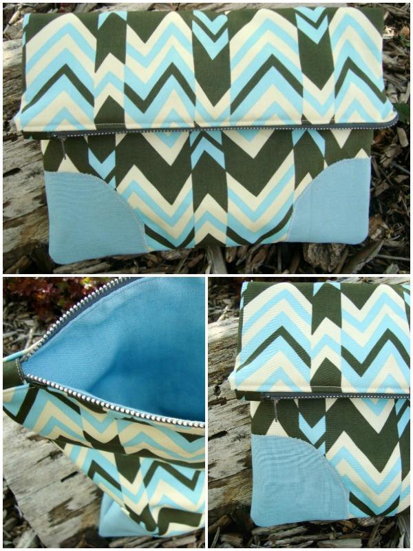 foldover clutch Sew Fab Pattern Sale