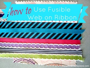 fusible web on ribbon tutorial | patchwork posse #howto #ribbon