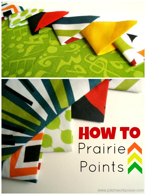 Learn how to make prairie points for your sewing projects. Quick and simple and a great addition to any project!   patchwork posse #easysewingproject