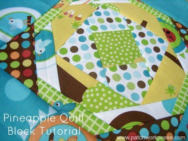 pineapple quilt block tutorial   patchworkposse #quiltblock #freepattern