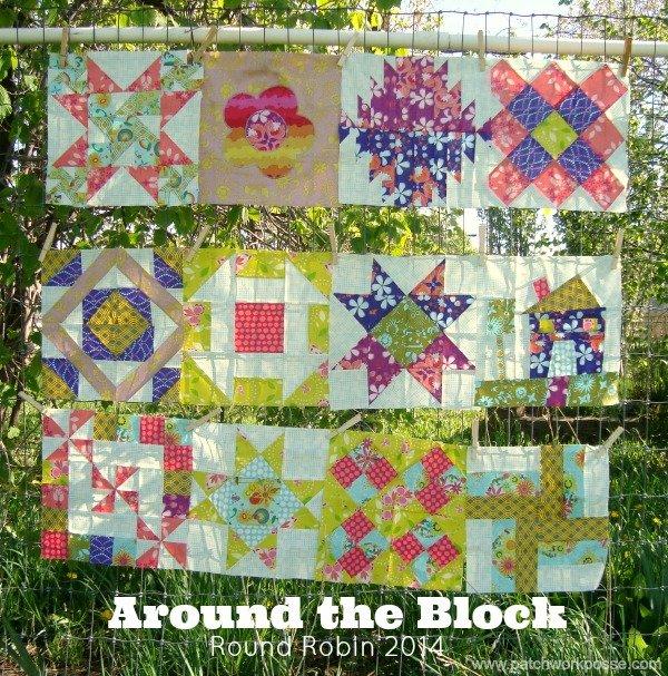 Around the Block Round Robin   patchwork posse #quiltalong