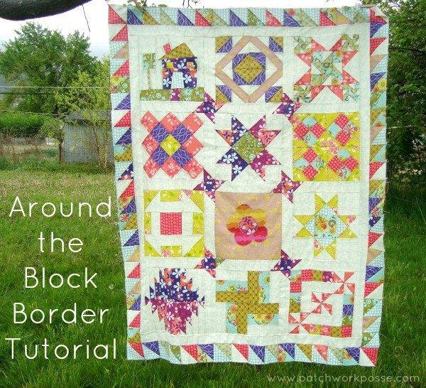 Around the Block | Round Robin Quilt Top Border