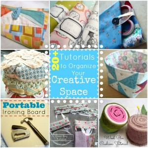 20 + Sewing Projects to keep your Creative Space Organized | patchwork posse | easy sewing project and free quilt patterns