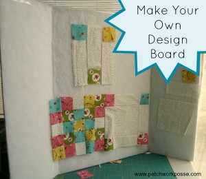 how to make your own design wall- it's portable! | patchworkposse | free tutorials and easy sewing projects