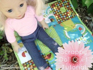 Scrappy Doll Quilt Tutorial | patchworkposse #freepattern #quilt #doll