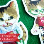 How to make felt doll with panel fabric | patchworkposse #freetutorial #feltdolls