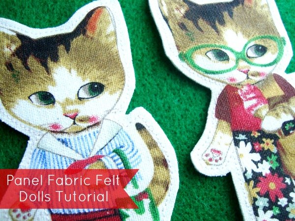 How to make felt doll with panel fabric   patchworkposse #freetutorial #feltdolls