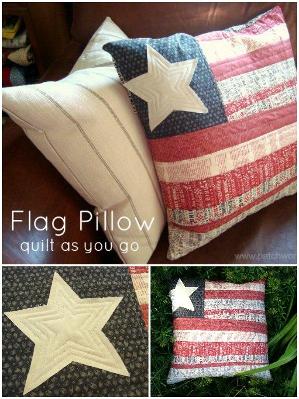 Flag Pillow Tutorial Quilt As You Go Technique
