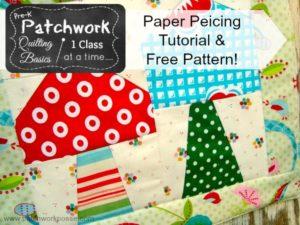 Mug Rug tutorial - learn paper piecing technique | patchwork posse #quilting #tutorial