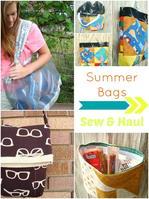 Over 12 Summer Bags for you to sew and haul your stuff in | patchworkposse #freepattern #summer #bags