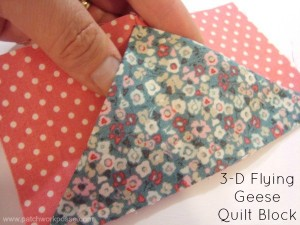 3-d Flying Geese Quilt Block Tutorial | patchworkposse | easy sewing projects and free quilt patterns