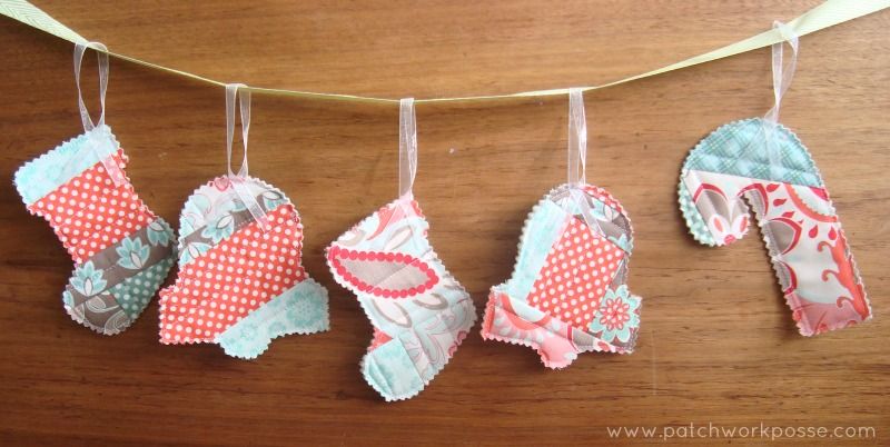 scrappy ornaments | quilt as you go | patchwork posse | easy sewing projects and free quilt tutorials
