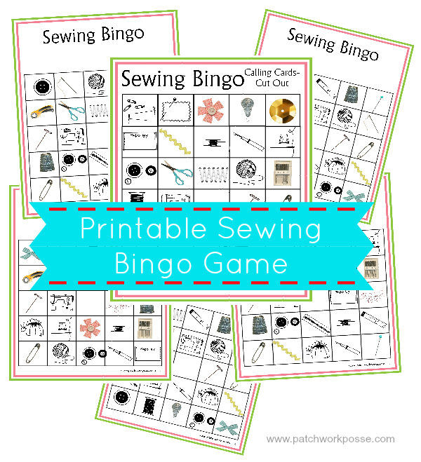 sewing bingo boards- printable | patchworkposse | easy sewing projects and free quilt patterns