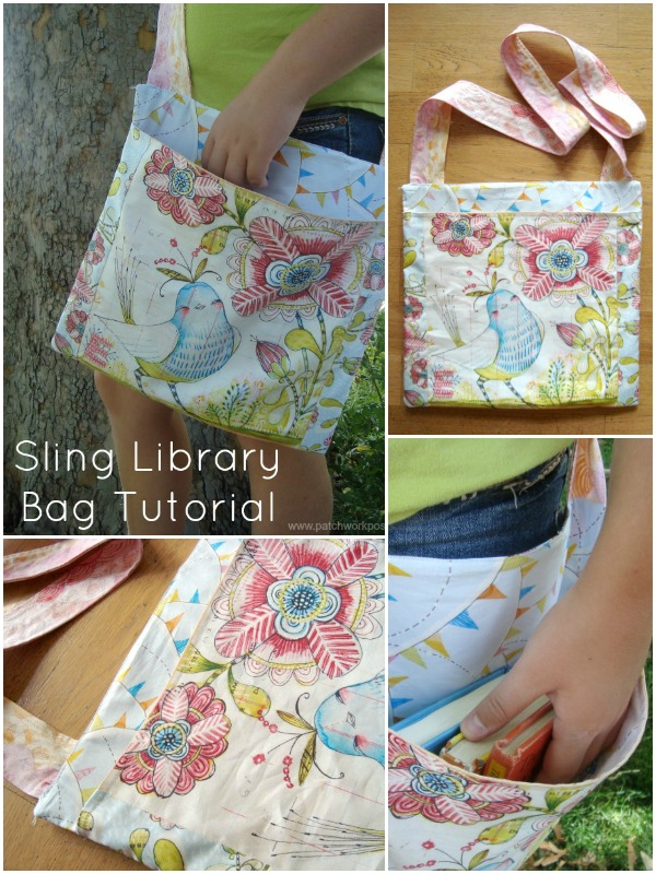 sling bag tutorial for the library | patchwork posse | easy sewing projects and quilt patterns