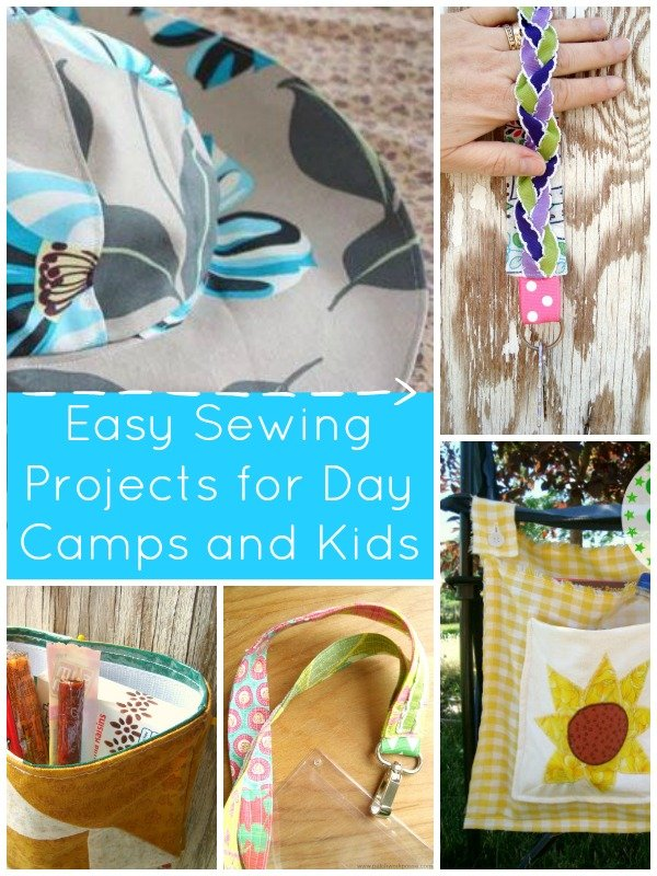 Easy sewing projects for daycamps and kids | patchwork posse | free quilt patterns and easy sewing projects