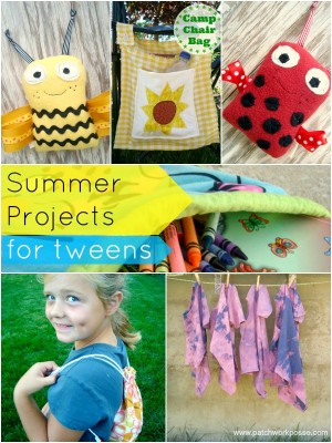 summer projects for tweens Over 12 tutorials | patchworkposse #summercamp #freepatterns