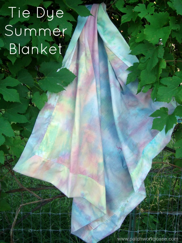 tie dye blanket tutorial | patchworkposse | easy sewing projects and free quilt patterns