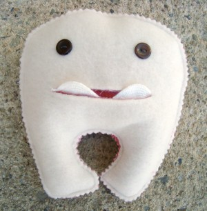 tooth sewing project for kids