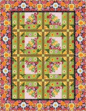 Dresden blooms, by Jean Ann Wright for Robert Kaufman.com