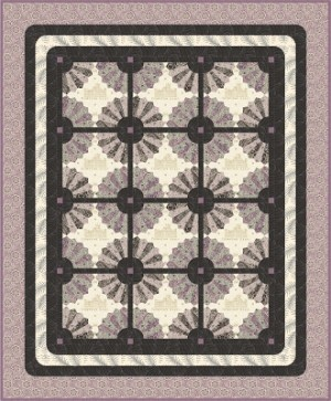 FANFARE QUILT Dresden Plate - Downton Abbey - Andover Fabric