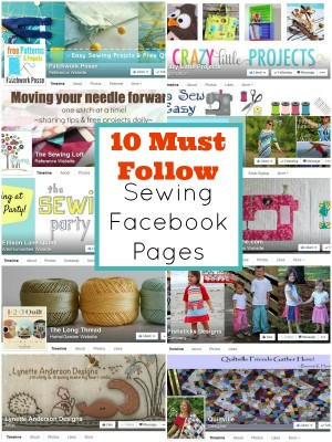 10 Must Follow Sewing Facebook Pages   patchwork posse   easy sewing projects and free quilt patterns