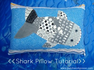 shark pillow tutorial with printable template | patchwork posse | easy sewing projects and free quilt patterns