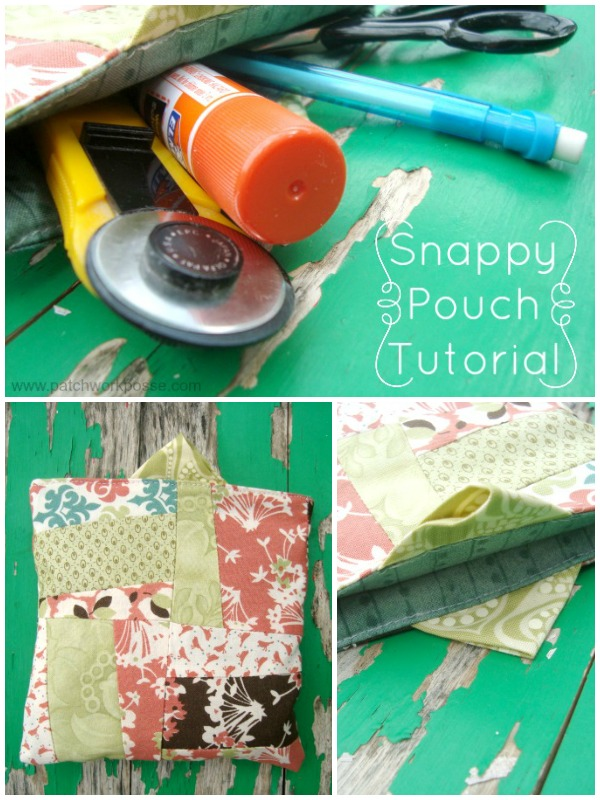 snappy pouch tutorial | patchwork posse | easy sewing projects and free quilt patterns