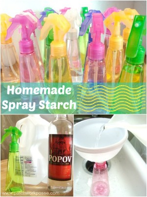 How to make your own spray starch | best press knock off | patchworkposse