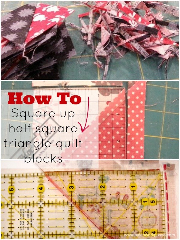 square up your half square triangle quilt block | patchwork posse | easy sewing projects