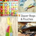 50 Zipper Pouch and Bag Tutorials