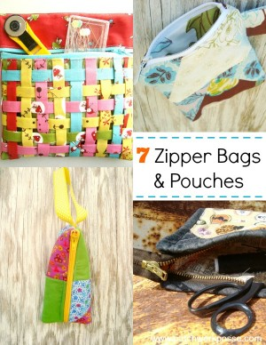 zipper bag & pouch tutorials | patchwork posse | easy sewing projects and free quilt patterns