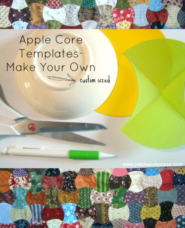 make your own custom apple core template