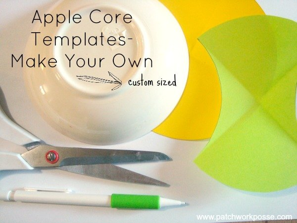 How to Make an Apple Core Template