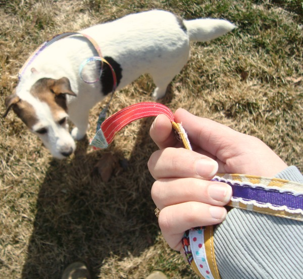 dog leash tutorial with ribbon | patchworkposse | easy sewing projects and free quilt patterns