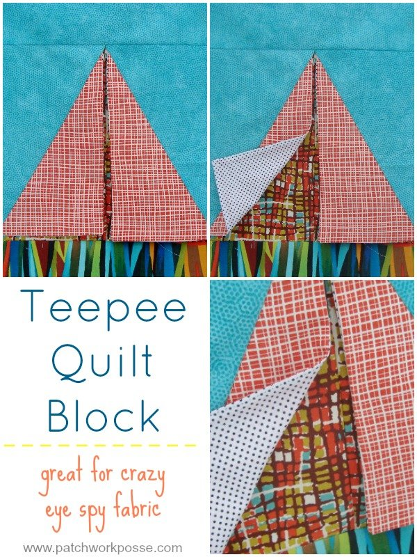 tee pee quilt block tutorial | patchwork posse | easy sewing projects and free quilt patterns