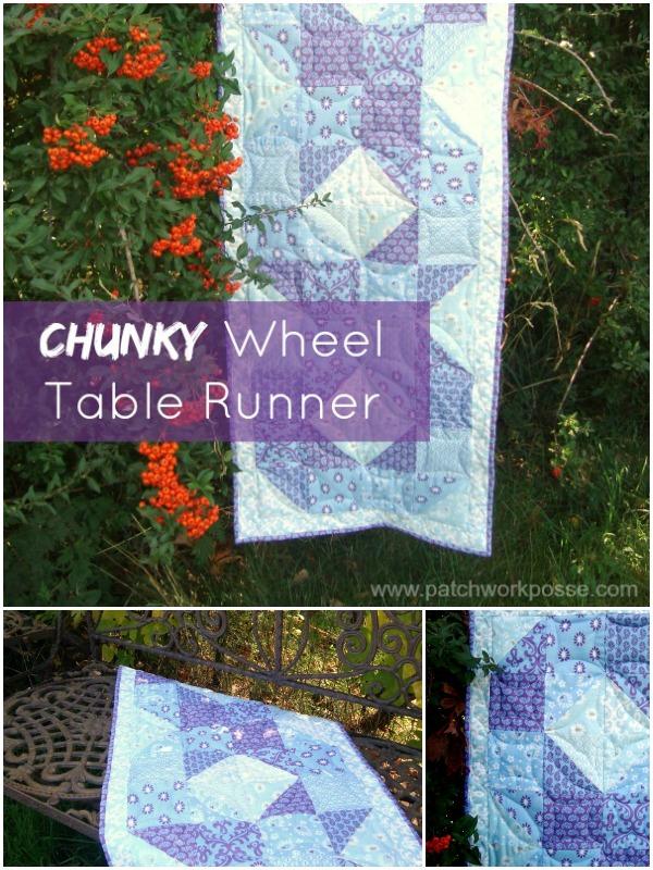 chunky wheel table runner tutorial | patchwork posse #quilting #freepattern #diy
