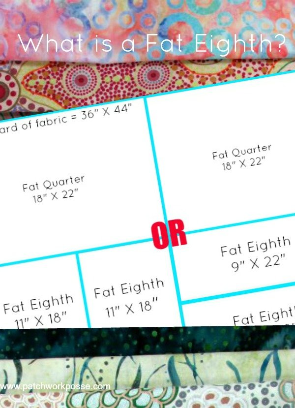 fat eighth cuts- there are two! | patchworkposse #fatquarter #fabric #quilting
