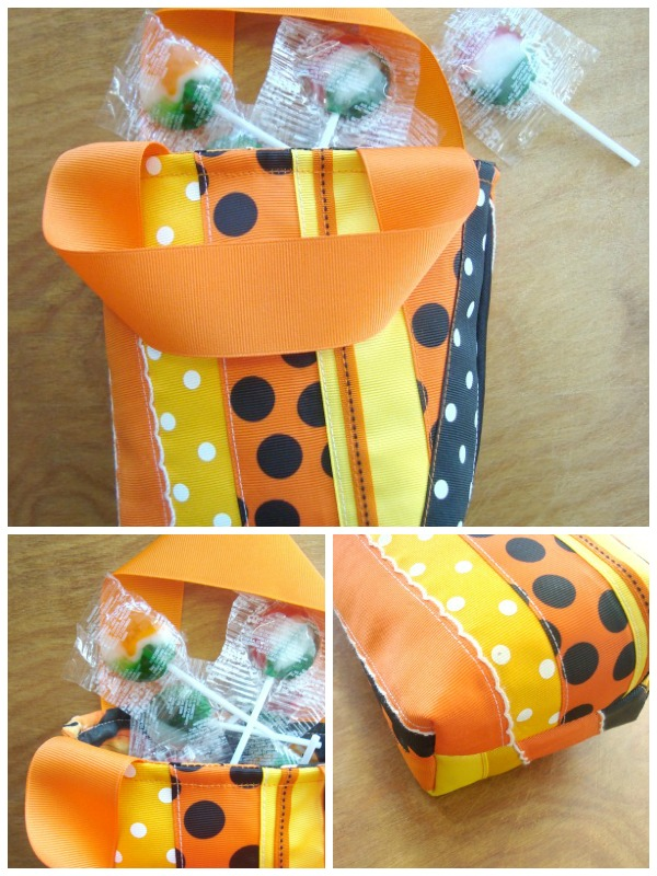 halloween ribbon gift bag tutorial