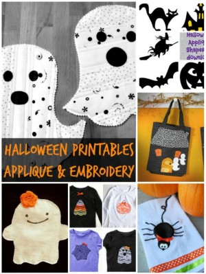 halloween applique and embroidery printables and projects | patchworkposse #halloween #quilt #applique #embroidery