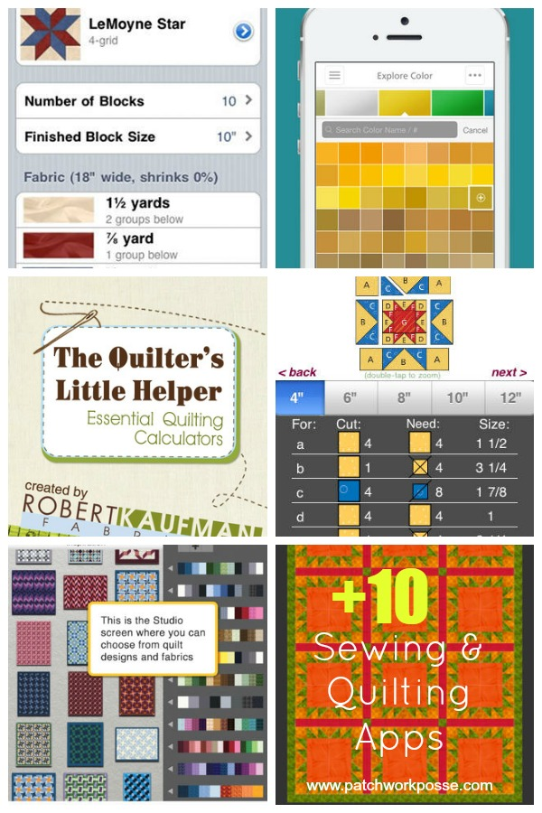 quilting apps great for anytime on the go! | patchworkposse #quiltingapps #sewingapps