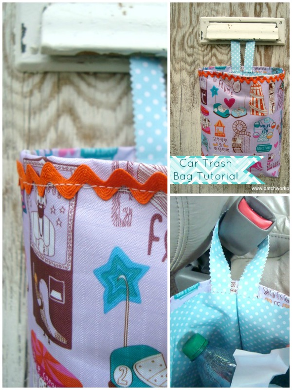 car trash bag tutorial | patchworkposse #quilt #freepattern