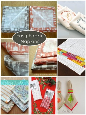 easy fabric napkin tutorials | patchworkposse #easysewingproject #holiday #napkins