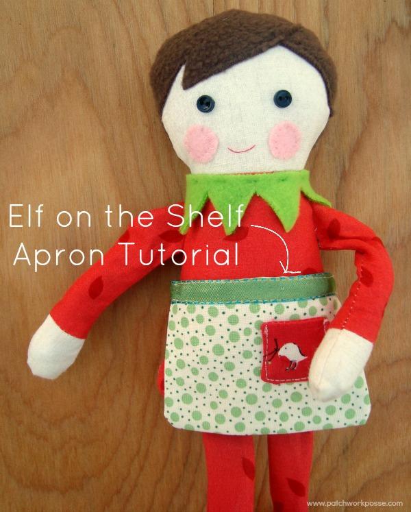 elf on the shelf apron tutorial | patchwork posse | #christmas #elfontheshelf #freepattern
