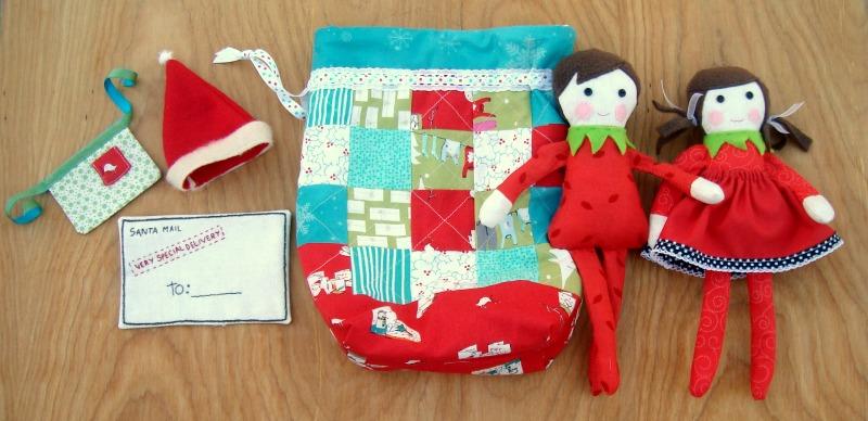 elf on the shelf doll set   patchwork posse #freepattern #elfontheshelf