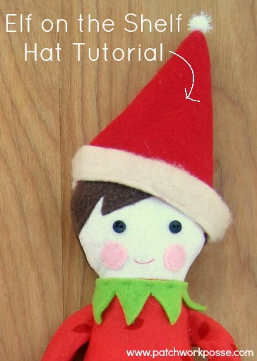 elf on the shelf hat tutorial | patchworkposse #christmas #elfontheshelf