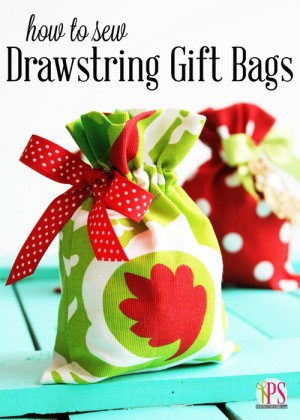 Cute Fabric Gift Bags you can Sew